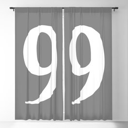 9 (WHITE & GRAY NUMBERS) Blackout Curtain