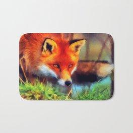 Watercolor Fox Bath Mat