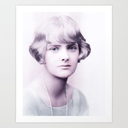 Dame Daphne du Maurier, Lady Browning, DBE was an English author and playwright 1930 Infrared art by Art Print