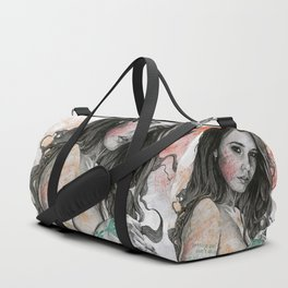 You Lied (nude girl with mandala tattoos) Duffle Bag