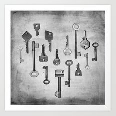 Key To My Heart Art Print