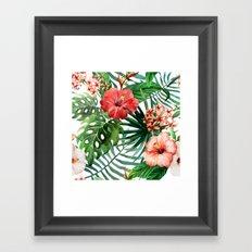 Tropical Floral Watercolor Var. 5 Framed Art Print