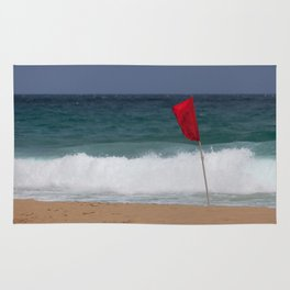 Red flag No Swimming Rug