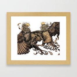 Two Kings - Roosters Framed Art Print