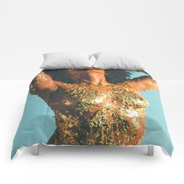 Beauty foster - skin and gold Comforters