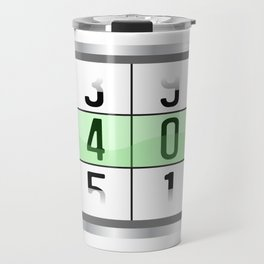 """A Nice Birthday Tee """"Oldometer 40"""" For Anyone Who's Birthday Is Happening Soon Happy Natal Day Travel Mug"""