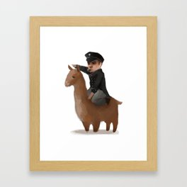 """Onwards, my brave steed!"" Framed Art Print"