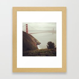 Rainy day on the bay Framed Art Print
