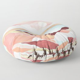Autumn Lake Sunrise Floor Pillow