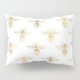 Gold Bee Pattern Pillow Sham
