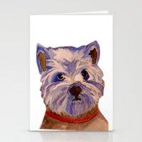 westie Stationery Cards featuring West highland terrier Westie dog love by Gooberella