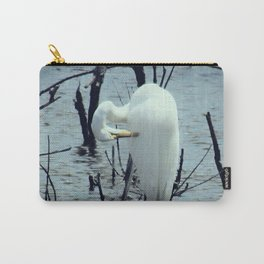 Great Egret in Water A108 Carry-All Pouch