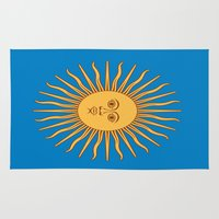 argentina Area & Throw Rugs featuring argentina flag sun by ArtSchool