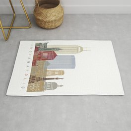 Indianapolis skyline poster Rug