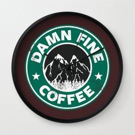 Damn Fine Coffee Wall Clock