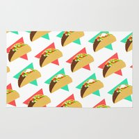 taco Area & Throw Rugs featuring TACO TIME!  by Kaitlin Smith