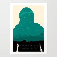 interstellar Art Prints featuring Interstellar by NickWR