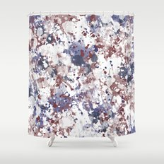 Red White Blue Watercolor Abstract Shower Curtain