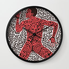Into 84 after Keith Haring Wall Clock