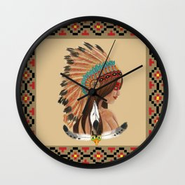 Indian Girl Wall Clock
