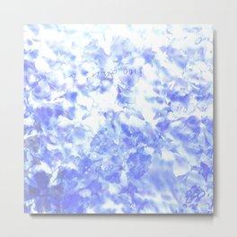 Blue floral belladonna pattern Metal Print