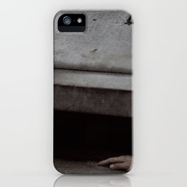 SCENE FROM 1984 BY GEORGE ORWELL PROLE KILLED BY STEAMER iPhone Case