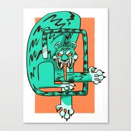 blue fangs Canvas Print