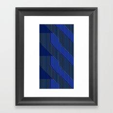 Triangular Rivers That Surely Deliver Framed Art Print