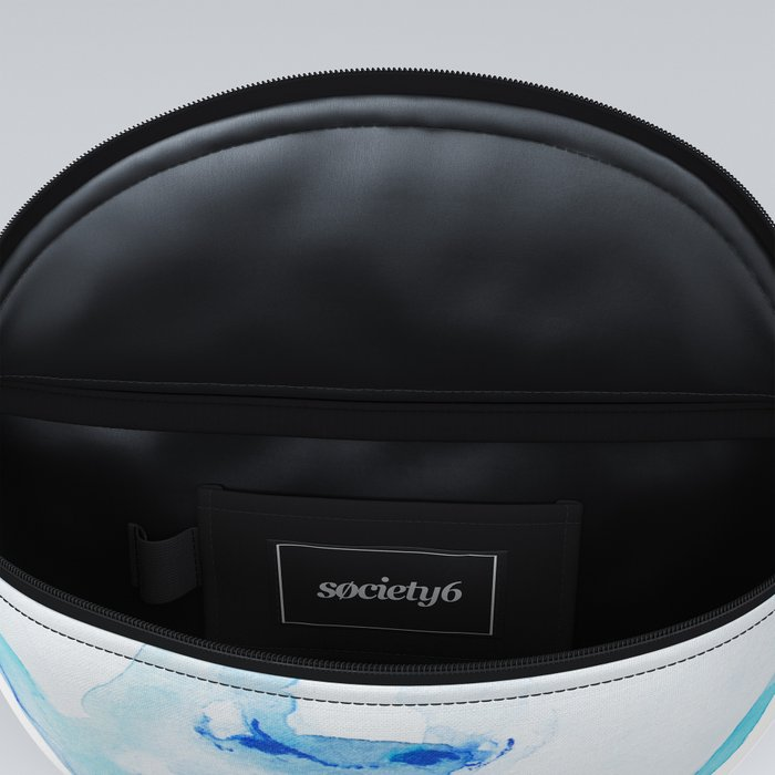 face in blue Fanny Pack