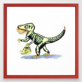 T. Rex's Halloween Framed Art Print