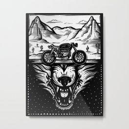 The Wolf Within Metal Print