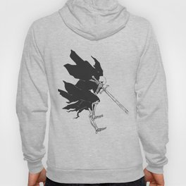 Grim reaper attack - medieval ghost - gothic skull - night demon - black and white Hoody