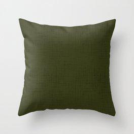 Dark olive textured. 2 Throw Pillow