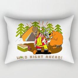 Camping Wild Night Ahead Rectangular Pillow