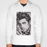 elvis Hoodies featuring Elvis by Ross Collins Artist