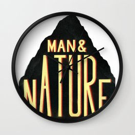 Man & Nature Wall Clock