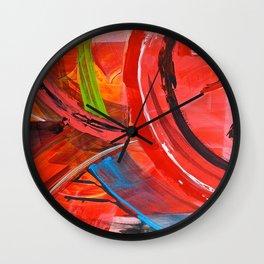 IBIZA - colorful abstract painting Wall Clock