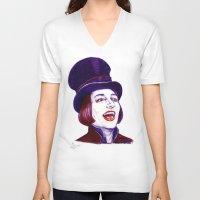 willy wonka V-neck T-shirts featuring Wonka by Indigo East by ieIndigoEast
