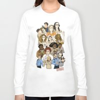 oitnb Long Sleeve T-shirts featuring Daya, Bennet, & Pornstache OITNB by StephDere