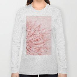 Dandelion In Pink Long Sleeve T-shirt