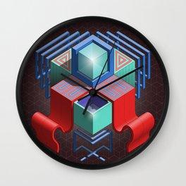 Abstract Cube 01 Wall Clock