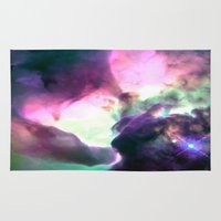 nebula Area & Throw Rugs featuring Pastel nebULa by 2sweet4words Designs