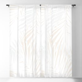 Palms White & Nude Blackout Curtain