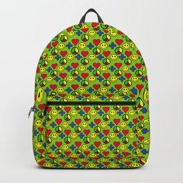Positivity Peace Joy Happiness LIME Backpack