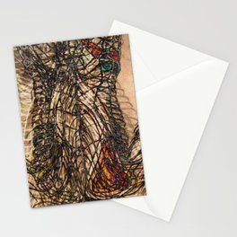 Electrified Cross-Contour Stationery Cards