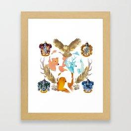 the golden trio Framed Art Print
