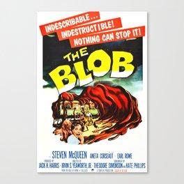 The Blob, Vintage Sci-Fi Horror Movie Poster Canvas Print