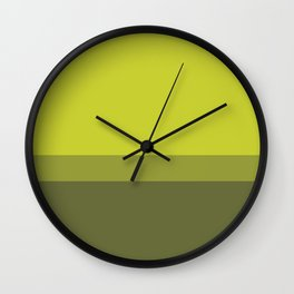 COLOR BLOCKED, CHARTREUSE Wall Clock