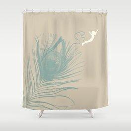 Jump Feather Shower Curtain