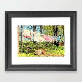 Spring Laundry Framed Art Print